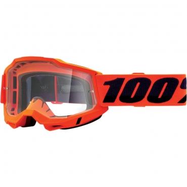 Occhiali (maschera) cross 100% Accuri 2 OTG Yellow lente chiara