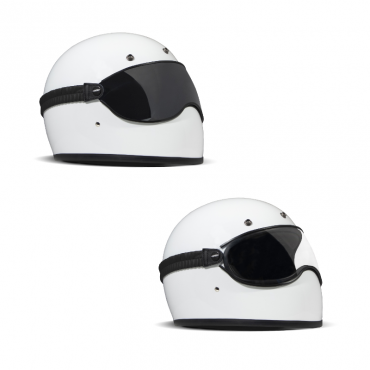 Occhiali maschera moto vintage DMD Ghost lente chiara